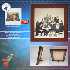 5 Seconds of Summer - Photo Printed Tile With Wooden Frame & Stand (Music Series)
