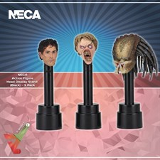 NECA - Action Figure Head Display Stand (Black) - 3 Pack