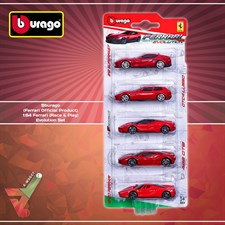 Bburago - (Ferrari Official Product) - 1:64 Ferrari (Race & Play) - Evolution Set