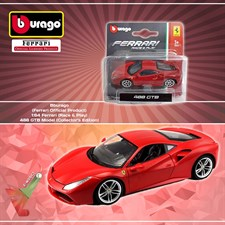 Bburago - (Ferrari Official Product) - 1:64 Ferrari (Race & Play) - 488 GTB Model (Collector's Editi