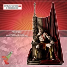 Gaming Heads - God Of War - Kratos On The Throne (Without Armour Version) Statue