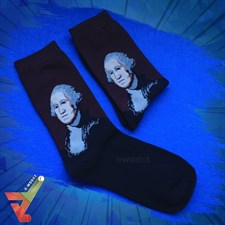 "Rembrandt Peale's ""George Washington"" (Famous Painting) - Crew Socks (Unisex)"