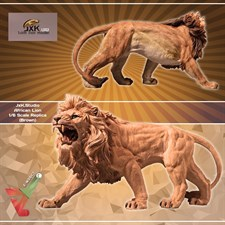 JxK.Studio - African Lion - 1/6 Scale Replica (Brown)