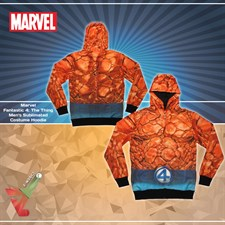 Marvel - Fantastic 4: The Thing Men's Sublimated - Costume Hoodie