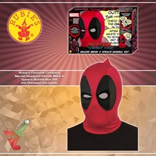 Rubie's Costume Company - Marvel Deadpool Deluxe Mask & Speech Bubble Box Set (PX Previews Exclusive