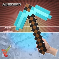 Minecraft - Foam Diamond - Pickaxe (Cosplay/Props)