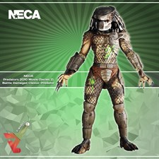 NECA - Predators 2010 Movie (Series 2) Battle Damaged Classic Predator