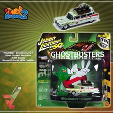 ROUND2 - Ghostbusters II Silver Screen Machines (1/64 Scale) Slimed Ecto-1A 1959 Cadillac