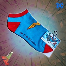 BioWorld - DC Comics - Wonder Woman Logo - Ankle Socks (Unisex)
